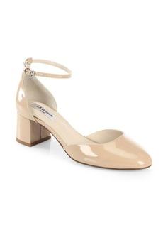 L.K. Bennett Andrea Patent Leather d'Orsay Ankle Strap Pumps