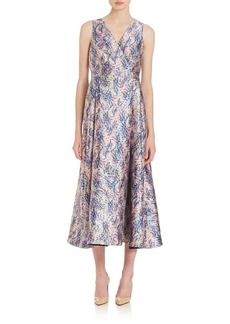 L.K. Bennett Sulan Floral-Print Midi Dress
