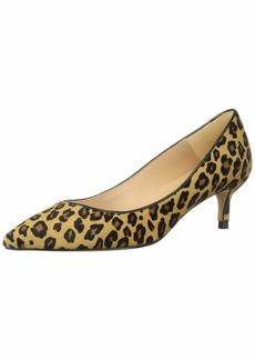 L.K. Bennett Women's Audrey Haircalf Leopard Print Pointed Toe Kitten Heel Court Shoes Pump  3 M EU ( US)