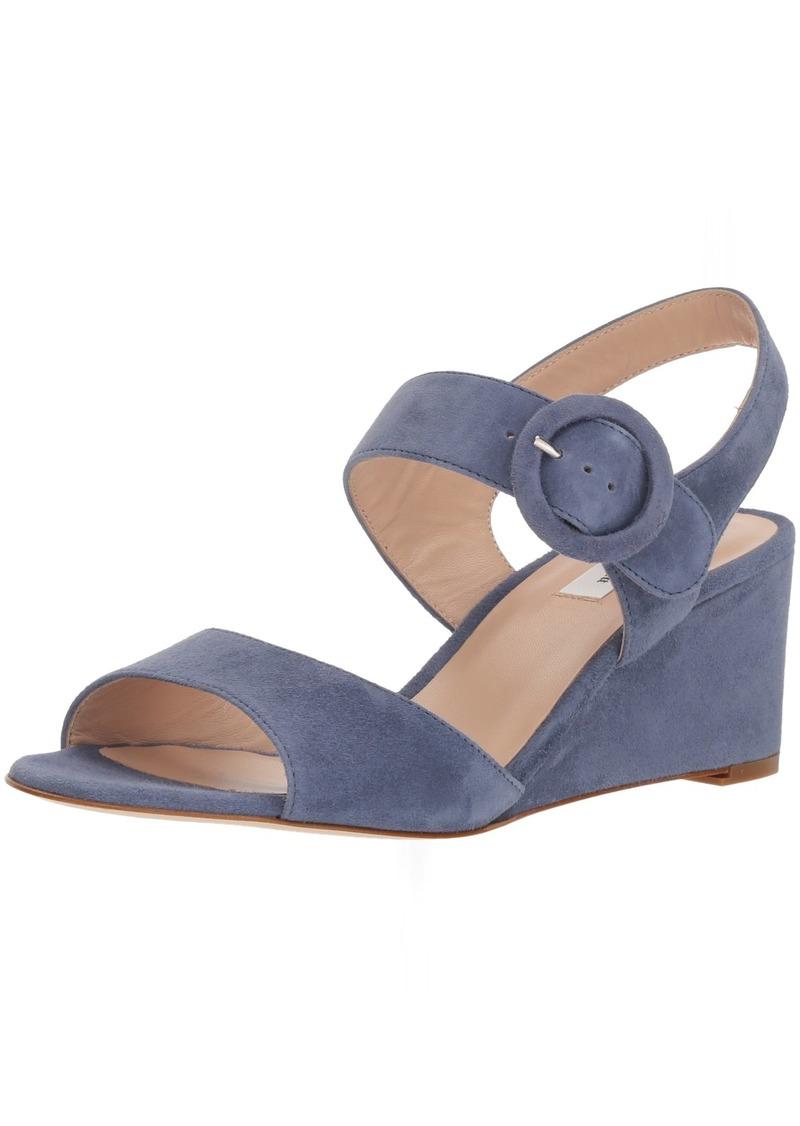 L.K. Bennett Women's Bailey Wedge Sandal blu-Powder Blue 38 Medium UK ( US)