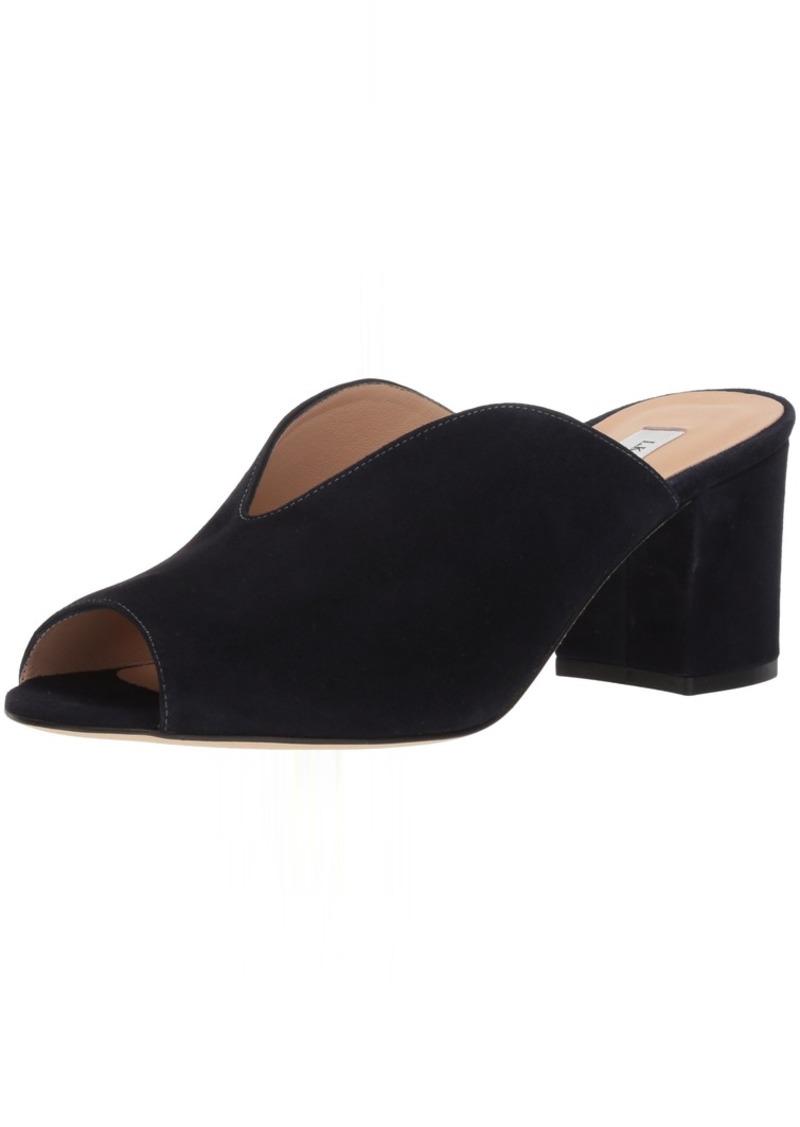 L.K. Bennett Women's Jagoda Slide Sandal blu-Navy 40.5 Medium UK ( US)