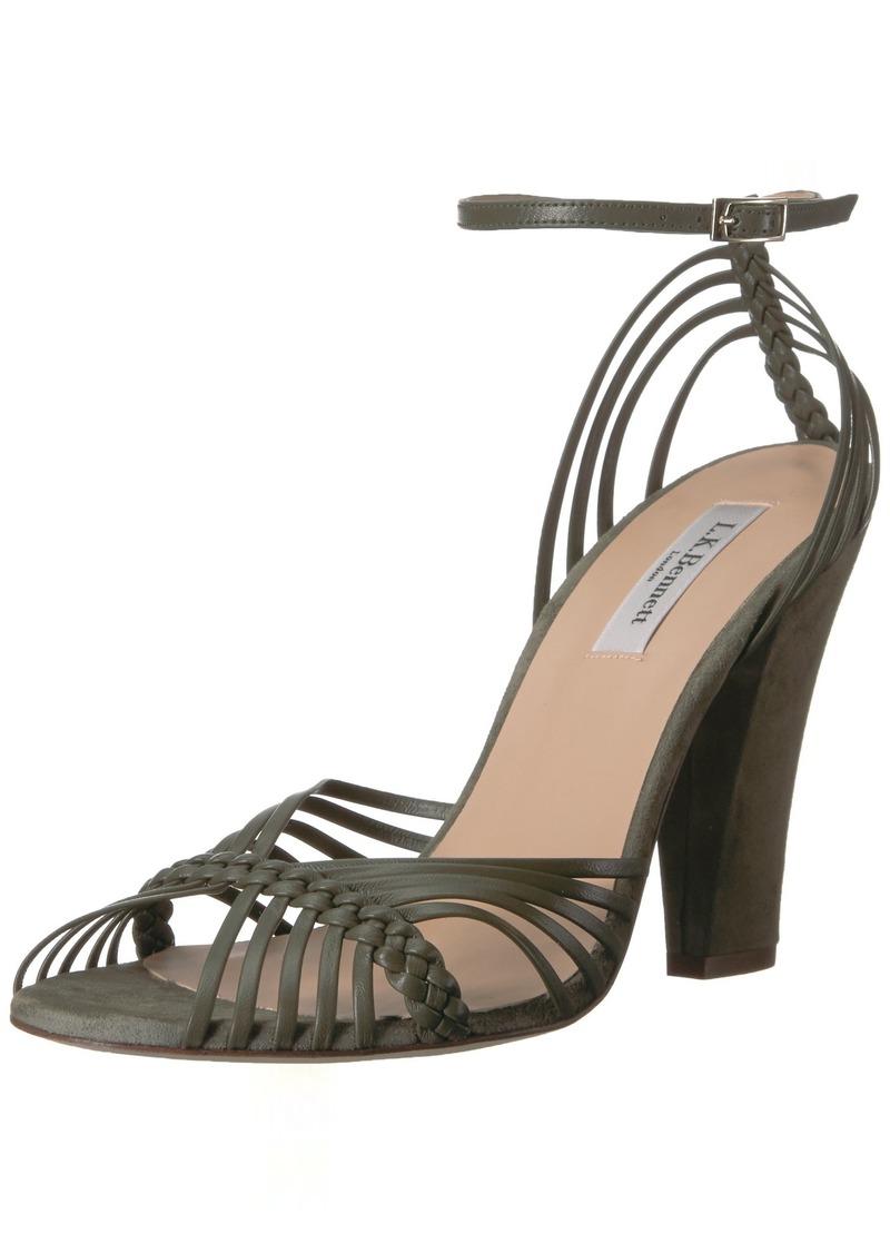 L.K. Bennett Women's LILYBELLE Heeled Sandal gre-Khaki 38 Medium UK ( US)