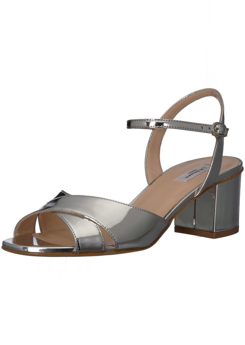 L.K. Bennett Women's Tabitha Heeled Sandal SIL-Silver 40.5 Medium UK ( US)