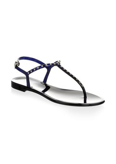 L.K. Bennett Studded Jelly Thong Sandals