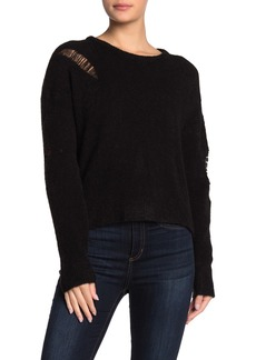LnA Wool Blend Distressed Sweater