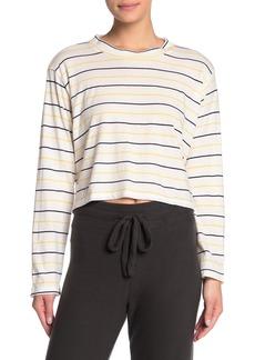 LnA Colorblock Stripe Crew Neck Long Sleeve Shirt