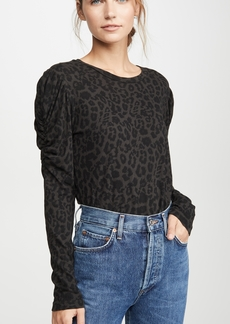 LNA Black Leopard Bolt Long Sleeve Tee