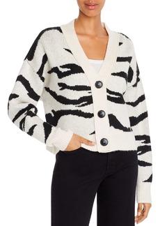 LNA Boxy Tiger-Stripe Cardigan