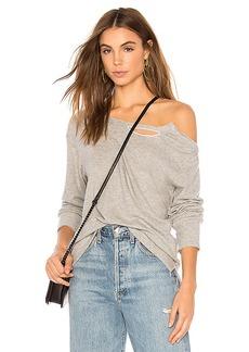 LNA Brushed Madly Off Shoulder Sweatshirt