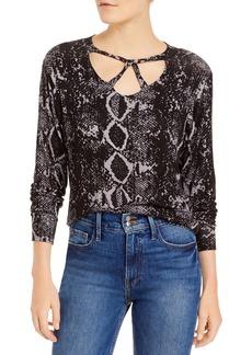 LNA Cailin Snake Print Brushed Sweater
