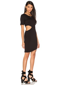 LNA Cut Out Side T-Shirt Dress