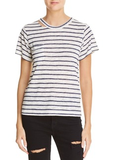 LNA Iles Striped Cutout Tee