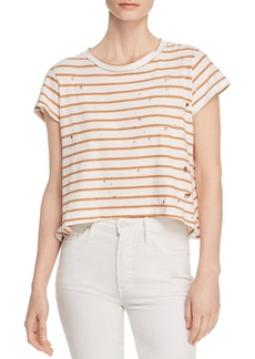 LNA Karen Distressed Striped Tee