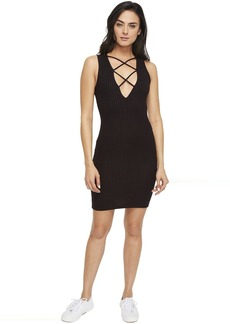 LNA Lace-Up V Dress