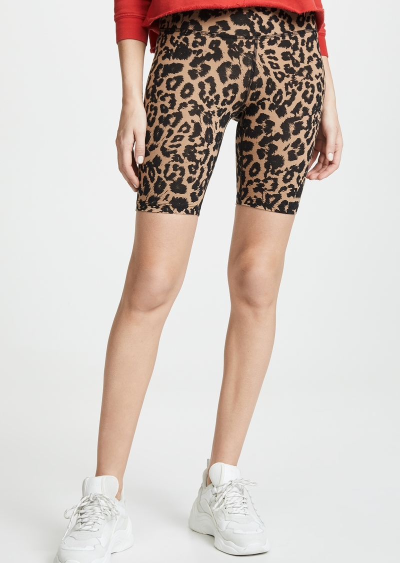 LNA Leopard Bike Shorts