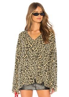 LNA Leopard Bitten Sweater