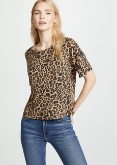 LNA Leopard Boxy Crew Tee