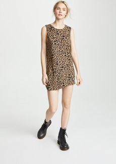 LNA Leopard Muscle Tank Dress