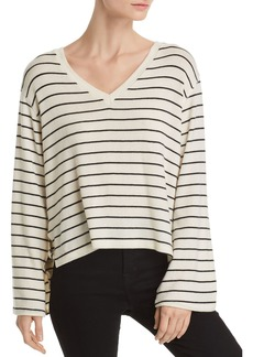 LNA Lilia Side-Vent Striped Sweater