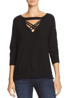 LNA Lola Brushed Cutout Sweatshirt