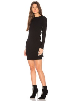 LNA Ruby Lace Up Dress in Black. - size L (also in M,S,XS)