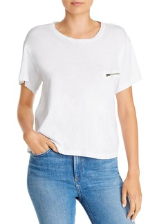 LNA Slant Decorative Zip-Pocket Tee