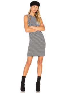 LnA Stripe Slice Tank Dress