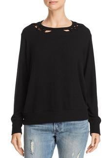 LNA Twin Lace-Up Sweater