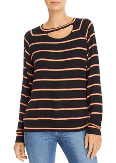 LNA Zora Cutout Striped Sweater