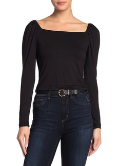 LnA Square Neck Puff Sleeve Shirt