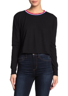 LnA Stripe Crew Neck Long Sleeve Shirt
