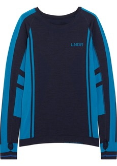 LNDR Colours two-tone stretch-knit top