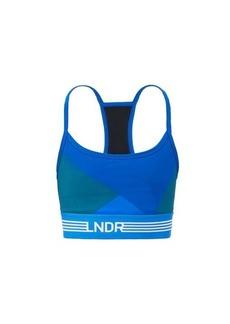 LNDR Beach Run logo-jacquard sports bra