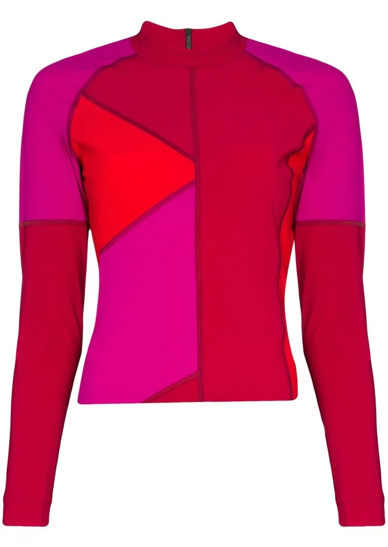 Malibu colour-block top