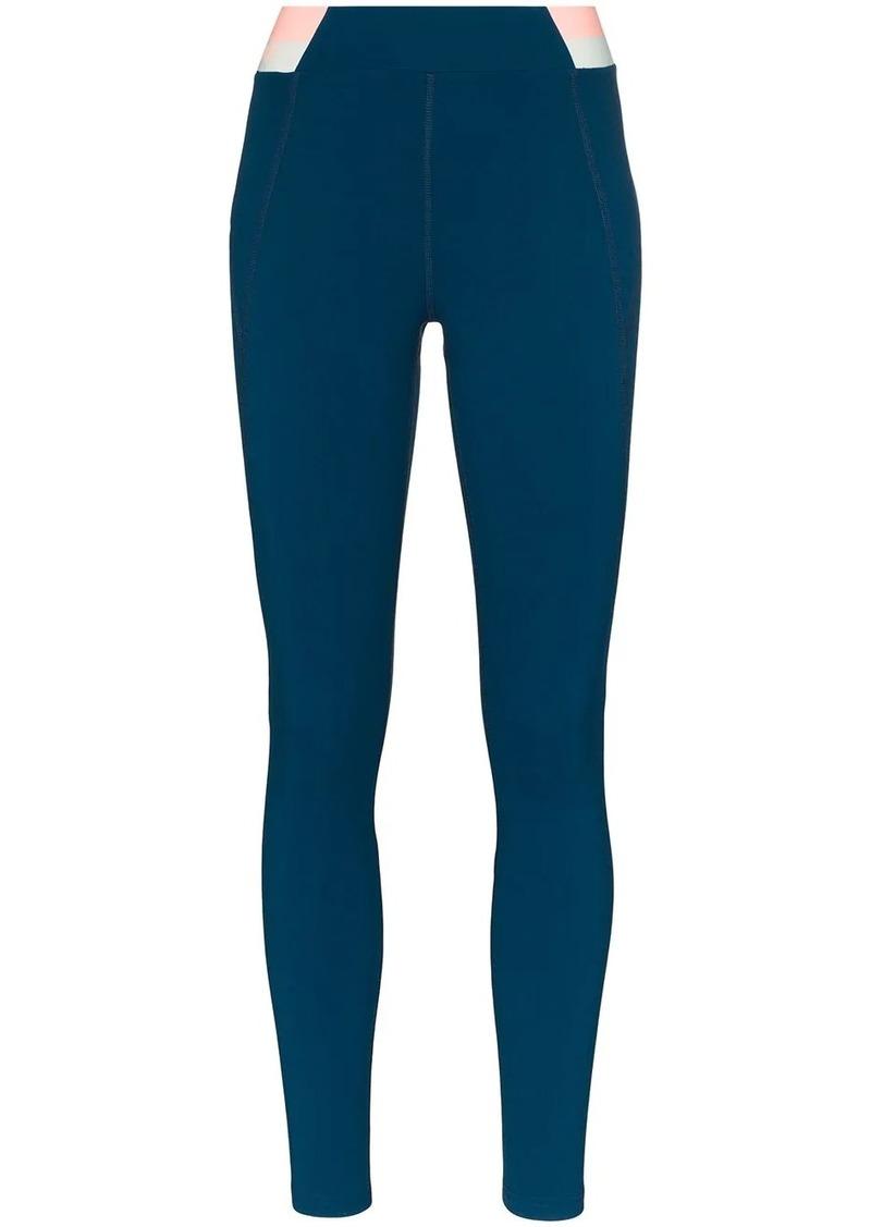 Spar stripe waistband leggings