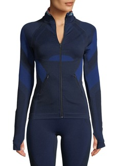 LNDR Spright Zip-Front Fitted Paneled Performance Jacket