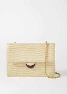 Loeffler Randall Amina Croc-effect Patent-leather Shoulder Bag