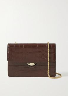 Loeffler Randall Amina Small Croc-effect Leather Shoulder Bag