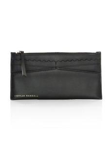 Loeffler Randall Aster Top-Zip Leather Wallet