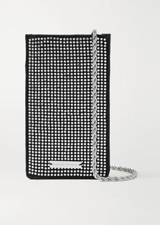 Loeffler Randall Augusta Crystal-embellished Satin Shoulder Bag
