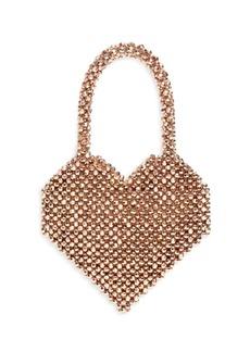 Loeffler Randall Beaded Heart Top Handle Bag
