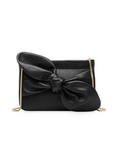 Loeffler Randall Cecily Bow Leather Shoulder Clutch