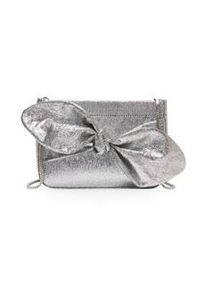 Loeffler Randall Cecily Metallic Leather Bow Bag