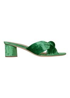 Loeffler Randall Celeste Emerald Green Slide Sandals