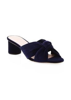 Loeffler Randall Celeste Knotted Velvet Mule Sandals