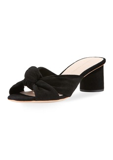 Loeffler Randall Celeste Suede Block-Heel Slide Sandal