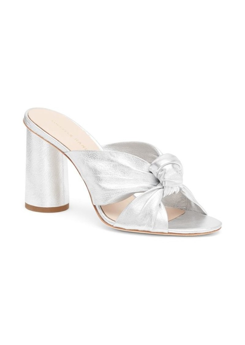 Loeffler Randall Coco Knotted Metallic Leather Mules