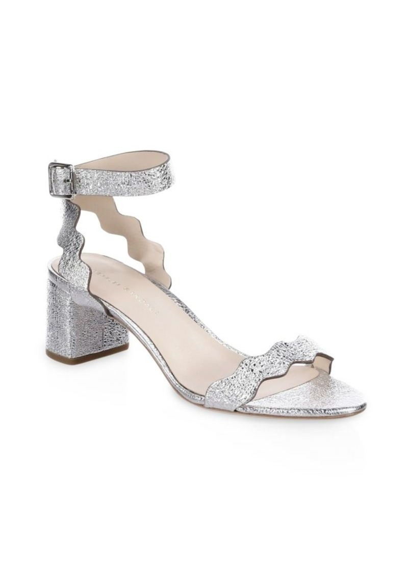 Loeffler Randall Emi Scallop Metallic Leather Sandals