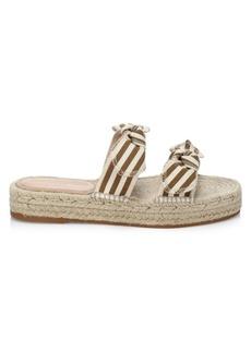 Loeffler Randall Daisy Two Bow Espadrille Platform Sandals