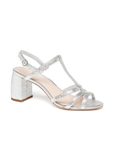 Loeffler Randall Elena Meatllic Leather Strappy Slingback Sandals